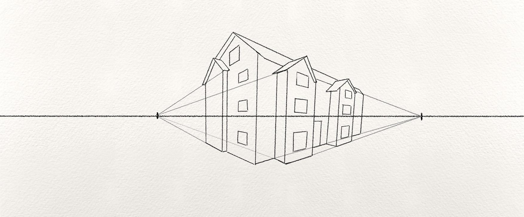 8 Step By Step Examples Of Two Point Perspective Drawing