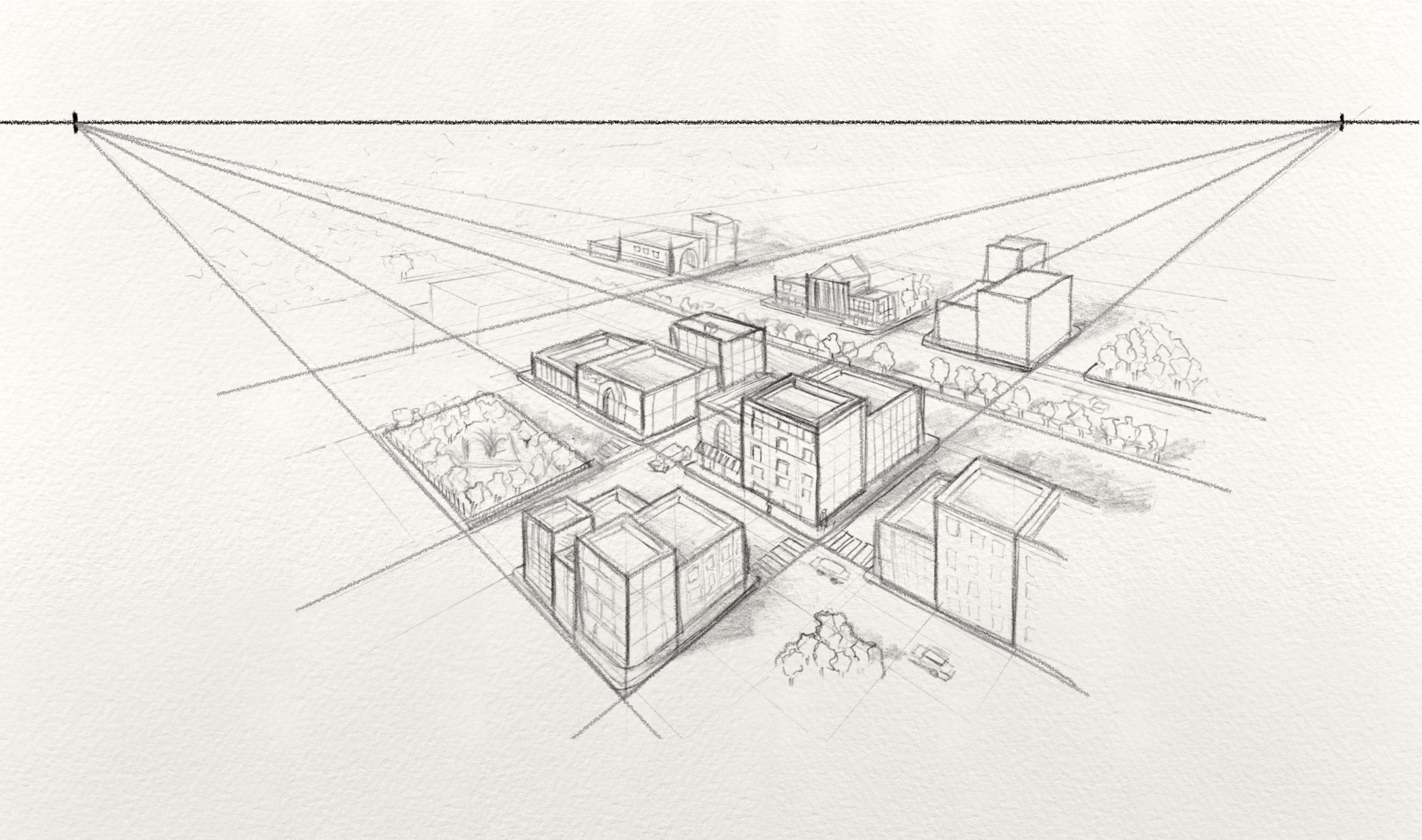 Two Point Perspective Drawing - Art and Architecture